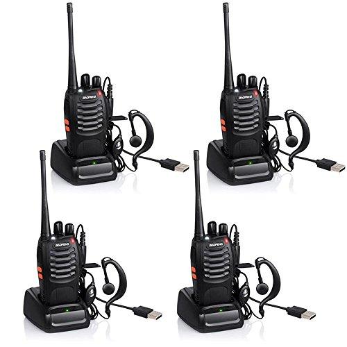 QITAO® BAOFENG Walkie-talkie Funkgerät 16 Kanäle Sprechfunkgerät Funktelefon in beiden Richtungen Gegensprechanlagen Funkhandy (4PCS)