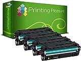 Printing Pleasure Pack 4 508X Toner Laser Compatible pour HP Color Laserjet Enterprise M552dn, M553n, M553dn, M553x, M553dh, MFP M577dn, MFP M577f, Flow MFP M577c, Flow MFP M577z