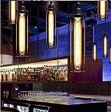 Lampada retro personalità downlight trasversale del soffitto flauto American Country, Bar Caffè luci creative soffitto singola sede, il capo della E27, 5.5 * 15.7in, 40W (2 unità)