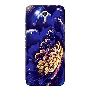 CrazyInk Premium 3D Back Cover for Lenovo Zuk Z1 - Blue Sparkling Night Flower