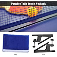 Alomejor Juego de Red portátil de Tenis de Mesa, Red Ping Pong con Pinza de Metal, Set de Accesorios
