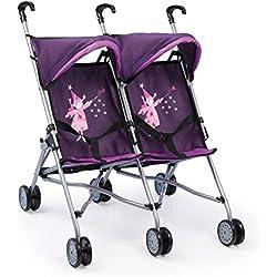 Bayer Design - Cochecito de muñeca para los gemelos Buggy, color lila (30212)