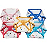 Littly Cushioned Cotton Nappies Combo (Pack of 5)