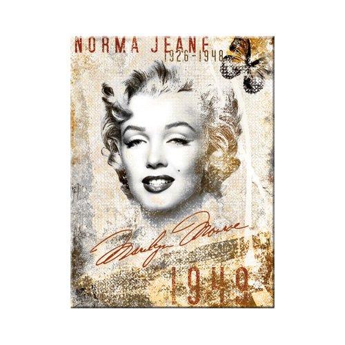 Nostalgic-Art 14207 Celebrities - Marilyn, Portrait-Collage, Magnet, 8 x 6 cm -