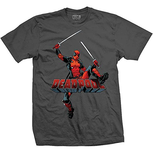 ol Springen Schwerter T-Shirt grau Männer XX große offizielle ()