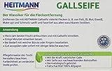 Heitmann Gallseife: Hausmittel gegen Flecken und Schmutz, natürlicher Fleckenentferner für Weißes und Buntes, 100g