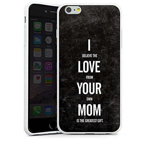 Apple iPhone X Silikon Hülle Case Schutzhülle Mama Humor Liebe Silikon Case weiß