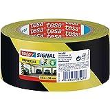 tesa 58133-00000-00 - 50 mm x 66 m de cinta adhesiva de peligros - / negro (6 rollos) amarillo