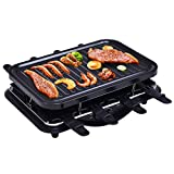 Costway Raclette Grill Partygrill Tischgrill Elektrogrill Raclettegrill Barbeque Grill 1200W mit 8 Pfännchen