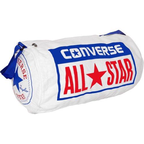 Converse Reporter Sport Classic - Borsa a tracolla, Bianco (White/Surf The Web), taglia unica