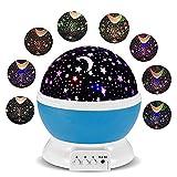 Sternenhimmel Projektor, Kinder Nachtlicht Lampe, Sominue LED Projektionslampe mit 360° Drehbare, USB Betrieben, Star Projektor für Schlafzimmer, Weihnachtsgeschenk