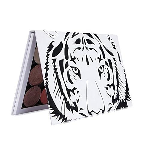 Huihong Leere Magnetische Kosmetische Palette Pad Tiger Kopf GroßE Muster