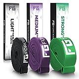 Premium Fitnessbänder + gedruckte Anleitung zum Training - Resistance Band in verschiedenen Stärken - Perfekt für dein Klimmzug, CrossFit, Calisthenics oder Freeletics Training