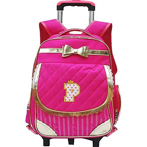 ATR Kinderrucksack Goldener Schleife-Knoten Rucksack Reizender rosa