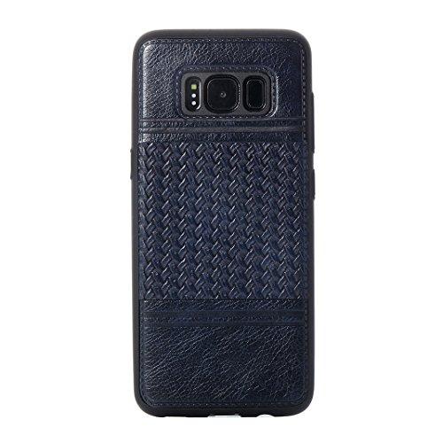 Cover Per Samsung Galaxy S8, Asnlove TPU Moda Morbida Custodia Linee Intrecciate Caso Elegante Ultra Sottile Cassa Braided Stile Tessere Case Bumper Per Samsung Galaxy S8 - Rosa Blu