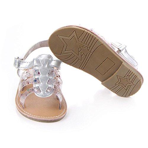 Bebê Walker nascido Prata Sintético Couro Sandálias Moccs Rastejando Babyschuhe Sola 18monate Longra Sapatos 0 Sapatos Antiderrapante Recém Suaves Menina Sapatos f61n5xHw