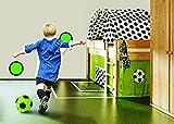 Bavaria Home Style Collection - Torwand fürs Kinderzimmer - mit 2 selbstklebenden Zielteller - 1 Indoor Fussball Gr. 5 - Ganzjahresartikel, da für drinnen gut geeignet!