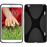 Coque en Silicone pour LG G Pad 8.3 - X-Style noir - Cover PhoneNatic Cubierta + films de protection