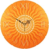 "Wanduhr - ""Goldenes Sonnen Mandala"""