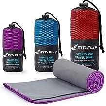 Fit-Flip Toalla de Microfibra Ligera y de rápido Secado – Funciona Mejor como una