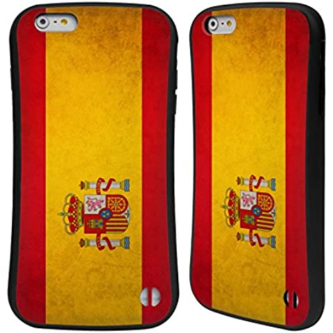 Head Case Designs Español De España Banderas Vintage Caso Híbrido para Apple iPhone 6 Plus / 6s Plus