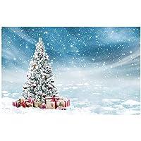 Uonlytech Telón de Fondo de Navidad Fotografía Tema de Navidad Paño pictórico Fotografía Personalizada Fondo Estudio Prop 5x3ft
