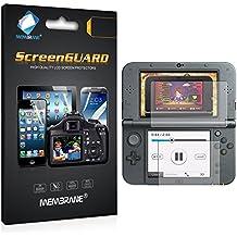 6 x Membrane Nintendo New 3DS XL 2016 Protector de Pantalla - [3 x Delantero y 3 x Trasero, Crystal Transparente]