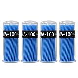 Shintop 400 Stück Applikatoren Einweg Microbrush Wimpernverlängerung für Makeup, Zahn- und Mundpflege (Blau, 2,5mm)