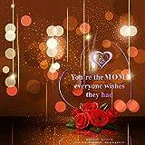 Giftgarden Mama LED Herzform Deko Happy Mutter - 6