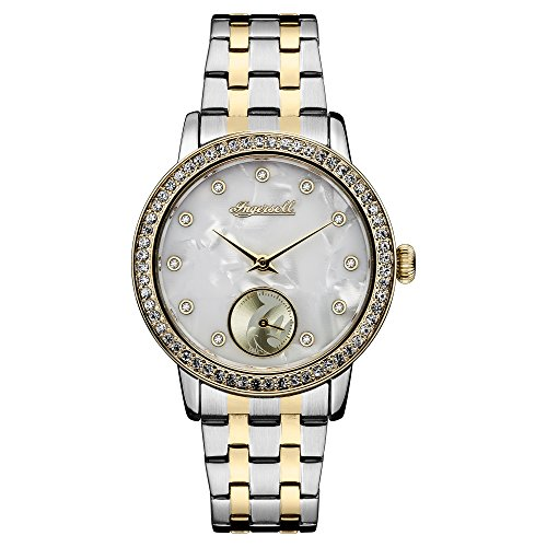 Ingersoll Disney Women's Union Quartz Watch with Mother of Pearl Dial and Two-Toned Stainless Steel Bracelet ID00801