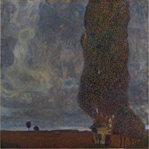 Niik Stampa temporale in Avvicinamento di Gustav Klimt 100 x 99 cm Falso d'autore su Tela