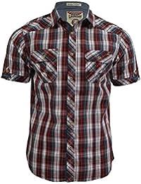 Chemise pour homme 'Olivera' à carreaux et manches courtes de Tokyo Laundry