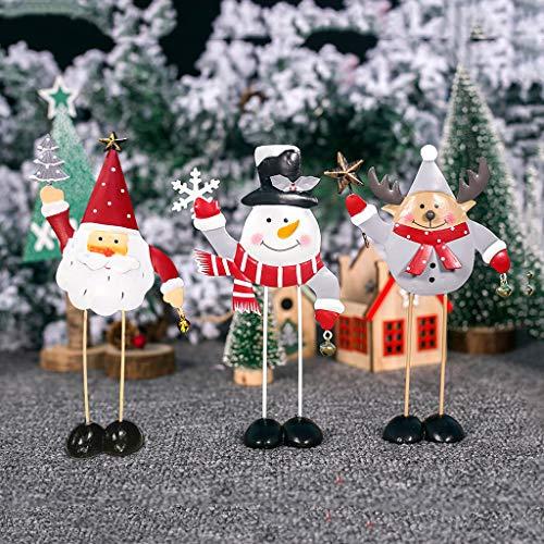 vijtian, Mini Decorazione Natalizia in Ferro battuto, Decorazione per la casa, Adatta per Il Giorno di Natale, Decorazione per la casa, Natale R