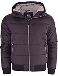 Mens Crosshatch 'Althorpe' Quilted Padded Hood Jacket Fleece Lined Winter Coat.