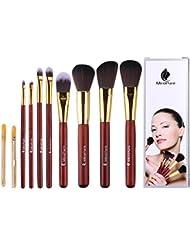 Set de 8 pinceaux de maquillage professionnels avec pinceau Kabuki et pinceaux pour appliquer le fond de teint, votre eye-liner, votre rouge à lèvres, votre correcteur, votre fard à paupières, et tous vos produits de maquillage