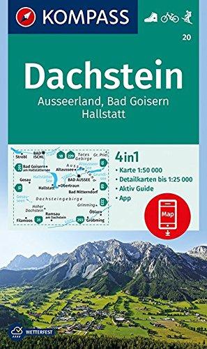 Dachstein, Ausseerland, Bad Goisern, Hallstatt: 4in1 Wanderkarte 1:50000 mit Aktiv Guide und Detailkarten inklusive Karte zur offline Verwendung in ... Skitouren. (KOMPASS-Wanderkarten, Band 20)