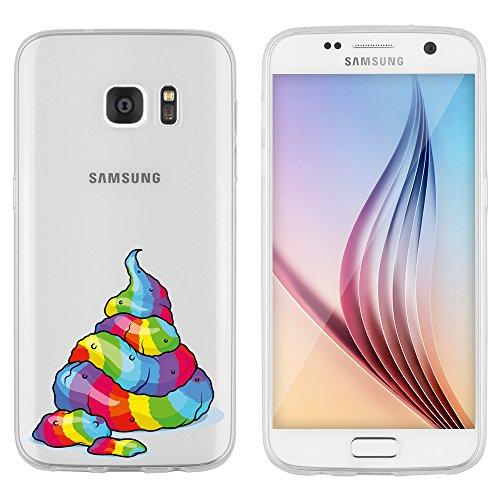 """licaso Hülle für Samsung Galaxy S7 5,1"""" TPU Schutz Cover Samsung S7 Case Sketch transparent..."""