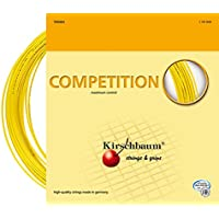 KIRSCHBAUM Competition String Set-Yellow, 1,25 mm/12 m, unisex, Competition, Yellow, 1.2 mm/12 m - 16 Tennis String Set