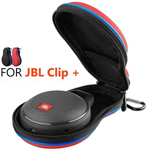 Hanlesi JBL Clip + Hülle, Wasserdichte Reisetasche mit Aufbewahrungstasche für JBL Clip + Wireless Bluetooth Lautsprecher rot rot