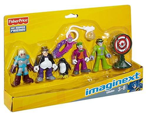 Fisher Price Toy - Imaginext - DC Super Friends Figure Set - Batman Villains - Joker - Riddler