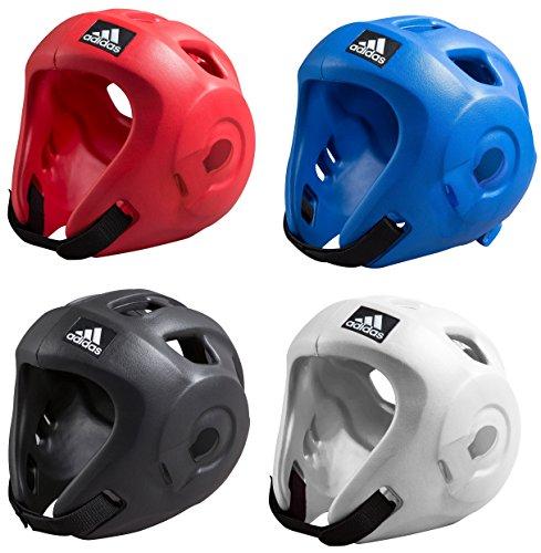 Adidas Adizero Kopfschutz für Wettkämpfe, Geschwindigkeit-ITF, Wako, Kickboxen, damen Herren, rot, Large
