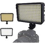 Kaavie -260 LED Lumière vidéo bicolore, Lampe vidéo pour la caméra DV caméscope pour Canon, Nikon, Pentax, Panasonic, Sony, Samsung et Olympus reflex numériques