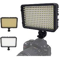Kaavie -198 LED Lumière vidéo bicolore, Lampe vidéo pour la caméra DV caméscope pour Canon, Nikon, Pentax, Panasonic, Sony, Samsung et Olympus reflex numériques