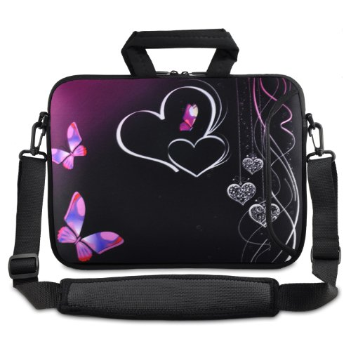 """Price comparison product image ChaoDa Dance butterflies 9.7"""" 10"""" 10.1"""" inch netbook tablet Shoulder Case Carrying Bag For Amazon Kindle DX / Apple iPad 2 3 / Lenovo S10 / Acer / Aspire ONE / ASUS EEEPC / HP / Dell Inspiron Min / Toshiba / Samsung / Sony"""