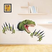 Zooarts Alondra de dinosaurio extraíble de pared adhesivo Vinilo Adhesivos Decor Mural de Habitación