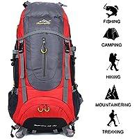Gshopper Mochila de Viaje 70L Senderismo Ligera Impermeable para Marcha Trekking Camping Montaña Escalada Red