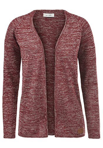 BLEND SHE Danila Damen Strickjacke Feinstrick Cardigan aus hochwertiger Baumwollmischung Meliert, Größe:L, Farbe:Andorra Red (73811)