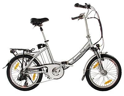 Premium Elektro-Faltrad GermanXia Mobilemaster TOURING PLUS CH 9G Shimano, 250W HR-Antrieb/15,6Ah, bis 140 km Reichweite nach StVZO, Comfort-Lenker - Achtung!! GermanXia ist einziger Anbieter, alle andere sind Häcker.