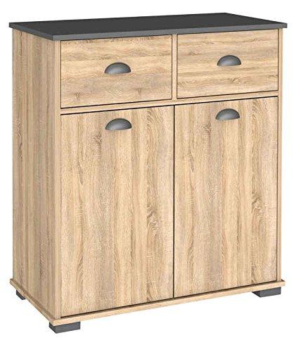 Armario buffe 2 puertas dos cajones color roble cocina