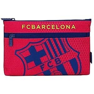 Futbol Club Barcelona – Estuche portatodo Grande 2 Cremalleras (SAFTA 811572033)